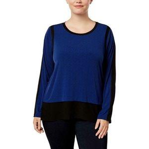 MICHAEL Michael Kors Womens Print Long Blouse Top